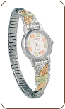 Landstroms Ladies Gold on Sterling Silver Watch and Band (SKU: 09287B-SS-09250-SS)