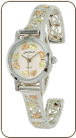 Landstroms Ladies Gold on Sterling Silver Watch and Cuff Band (SKU: LWB903C-SS-09250-S)
