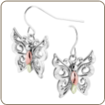 Black Hills Silver Butterfly Earrings (SKU: MRLER30536)
