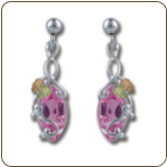 Black Hills Silver Rose Zircon Earrings (SKU: ER968PDSS-310)