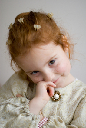 Child wearing Jewelry