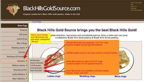 black hills gold website