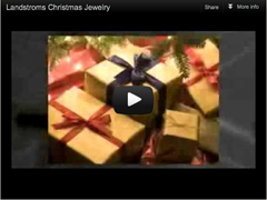 Landstroms Christmas Jewelry video